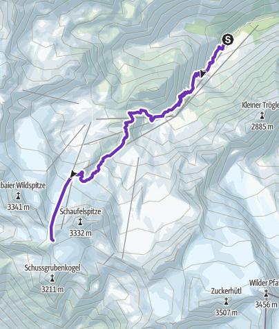 Karte / STUBAI 8K (Mutterberg - Stubaier Gletscher)