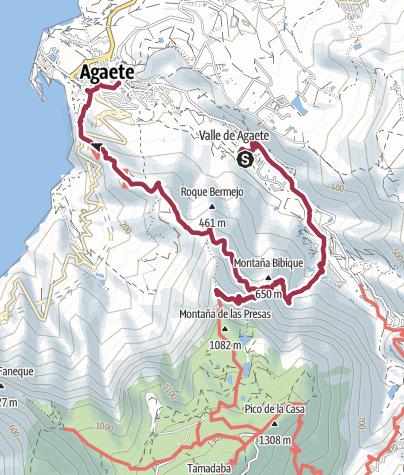 Map / Agaete to Puerto de las Nieves