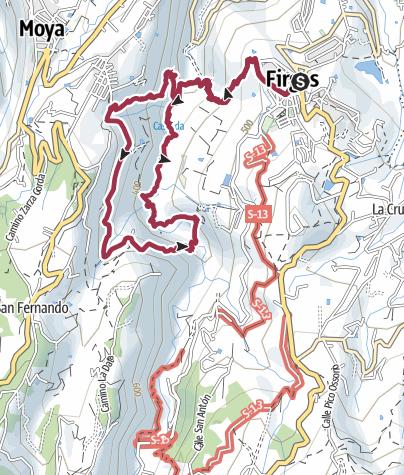 Map / Agaete to Tejeda
