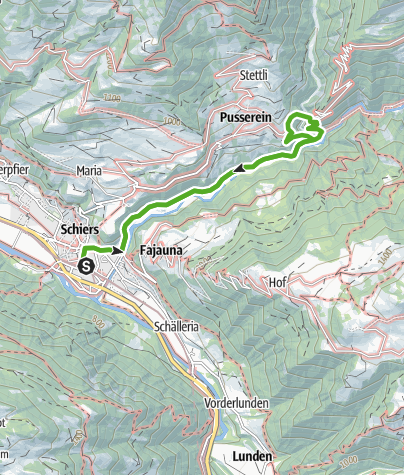 Map /  World-Monument-Bridge over the gorge of Salgina above Schiers