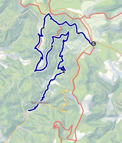 Map / Von der Renchquelle durchs Tal der wilden Rench