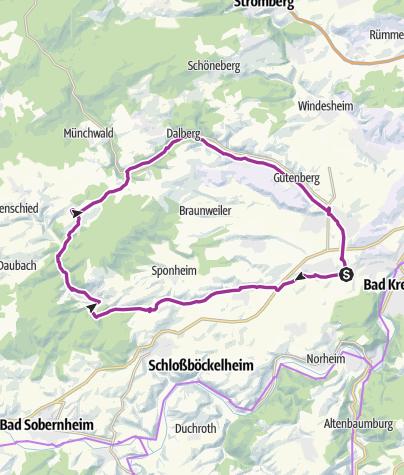 Karte / Kleinbahn-Radrundweg