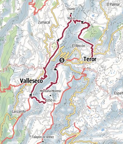 Map / Las Rosadas to Teror