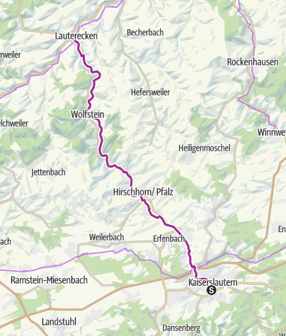 Map / Lauter Cycle Route