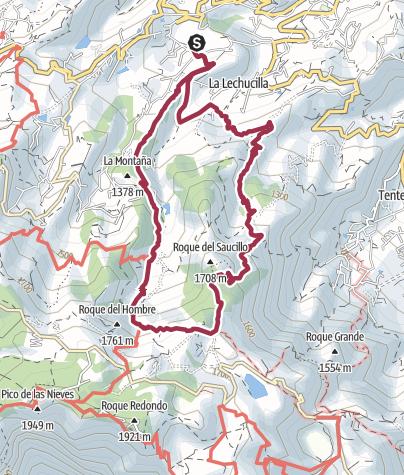 Map / Circular walk from La Lechuza