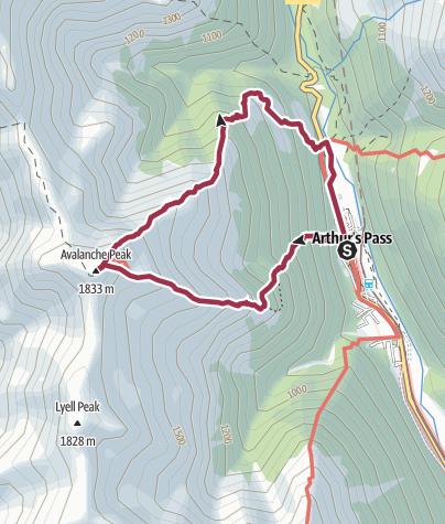 Map / Avalanche Peak and Scott Tracks