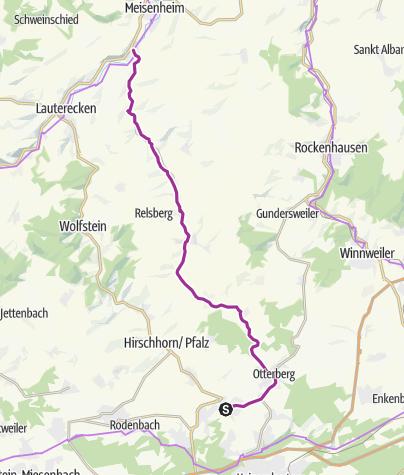Karte / Odenbachtal-Radweg