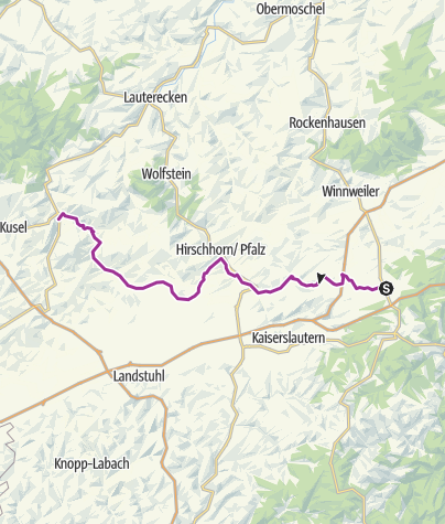 Karte / Altenglan-Enkenbach-Alsenborn - Pfälzer Land Radweg
