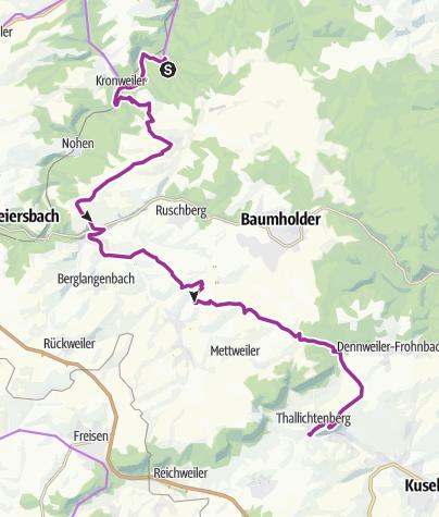 Karte / Burgen-Radweg: Frauenberg - Thallichtenberg