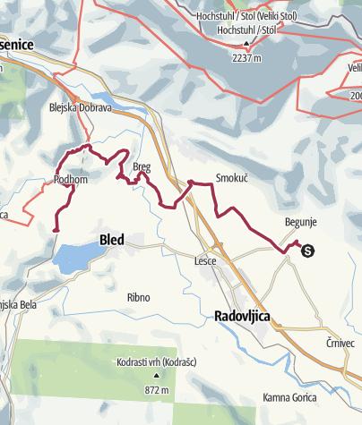 Karte / Begunje to Bled