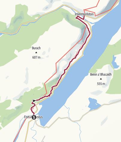 Karte / Wanderung nach Invermoriston (Low Route)