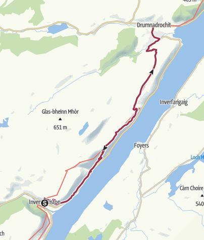 Map / Wanderung nach Drumnadrochit (Low Route)