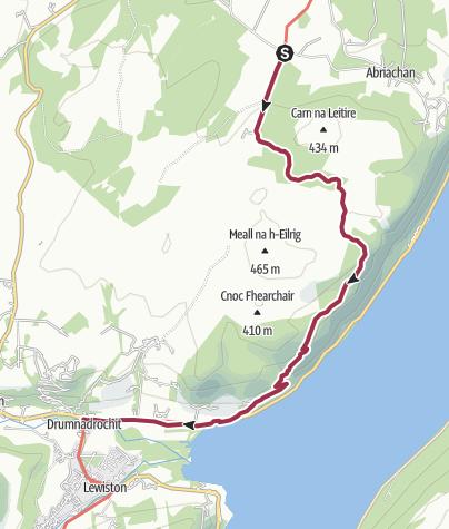 Karte / Wanderung nach Loch Laide