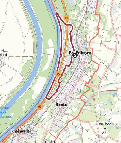 Karte / Großer Rundweg im Rheinvorland