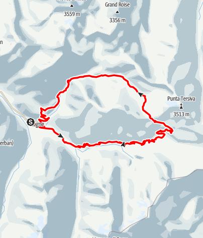 Karte / Passo Invergneux