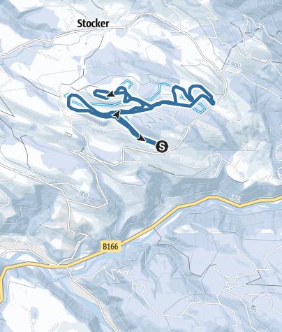 Karte / Abtenau: Panorama Schneeschuhwanderung Radochsberg