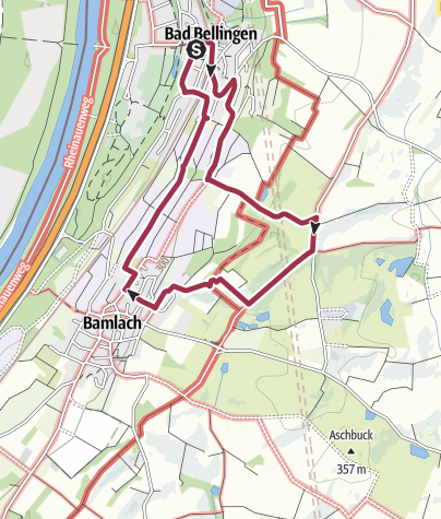 "Karte / Wanderung zur Kapelle ""Maria Hügel"""