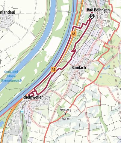 Karte / Wanderung nach Rheinweiler