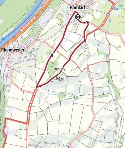 Karte / Rundweg über den Stationenweg