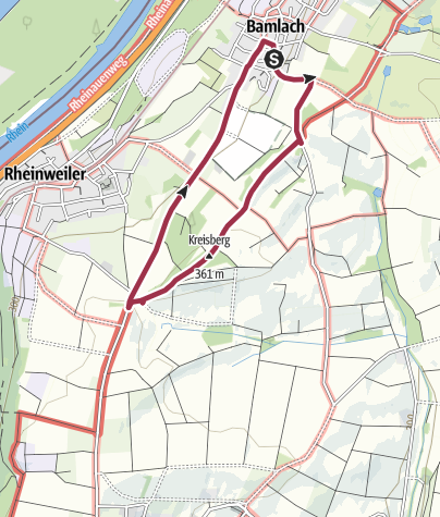 Mapa / Rundweg über den Stationenweg