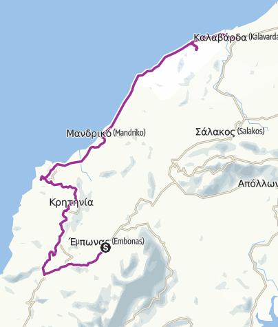 Map / Embonas to Kalavarda