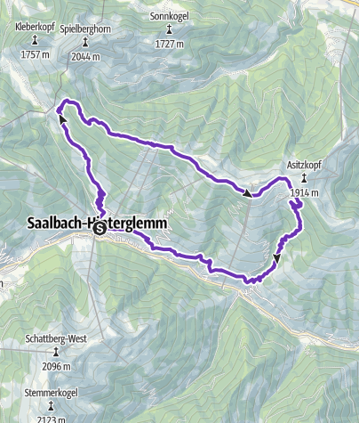 Karte / TRAILRUN WORLDMASTERS SAALBACH - Trail Medium Distance