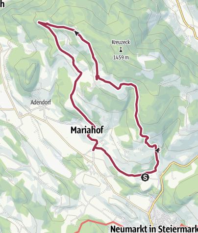 """Karte / Mariahof_Von der """"Alten Schmiede"""" zum Steinschloss"""