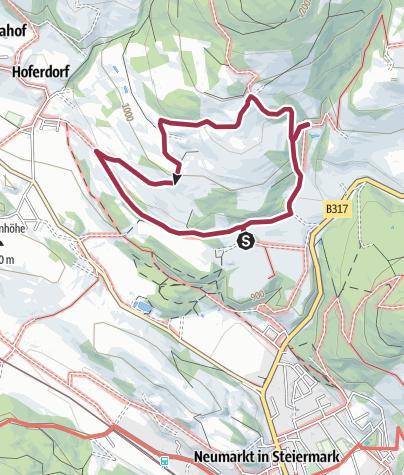 """Karte / Mariahof_Von der """"Alten Schmiede"""" nach Berg"""