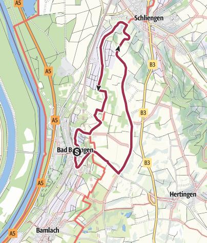 Karte / Wanderung nach Schliengen