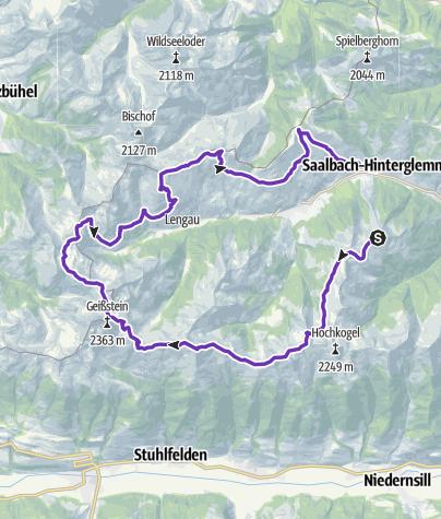 Karte / TRAILRUN WORLDMASTERS SAALBACH - Trail Long Distance