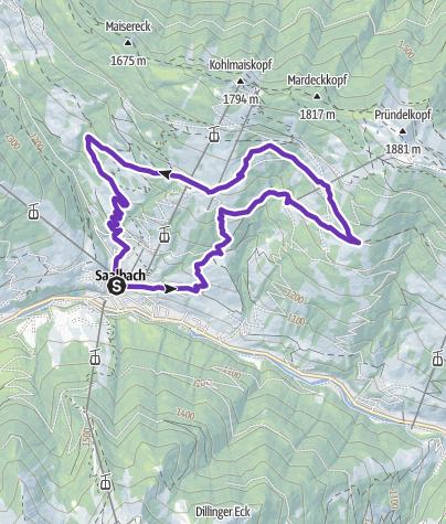 Karte / TRAILRUN WORLDMASTER SAALBACH 2019 - Trail Short Distance