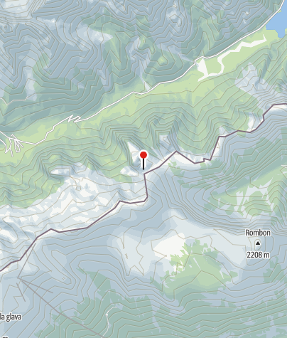 Map / Biv. Speleologico Modonutti-Savoia