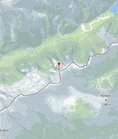 Karte / Biv. Speleologico Modonutti-Savoia