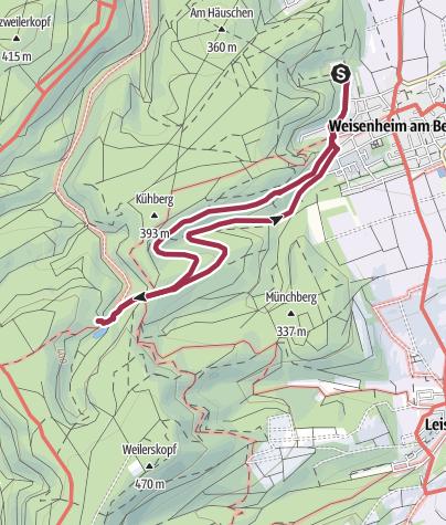 Karte / Wanderfit - Bänkeltour in Weisenheim am Berg