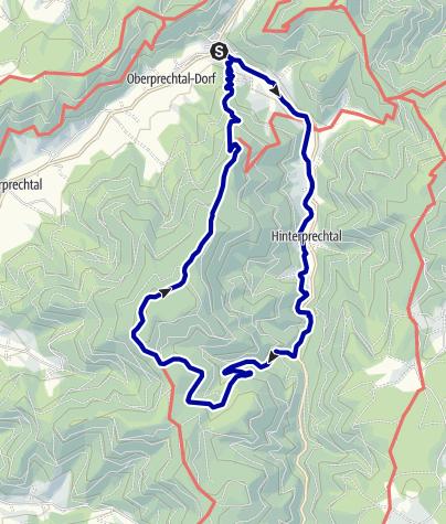 Karte / Auf den Höhen des oberen Elztals