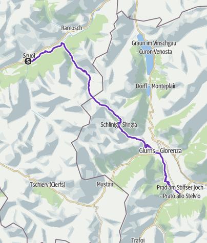 Karte / TRANSALPINE RUN 2019 7. Etappe
