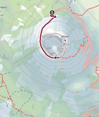 Karte / Touristenweg auf den Vesuv