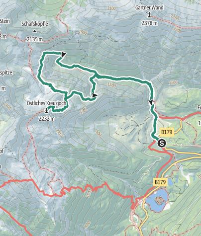 fernpass karte Östliches Kreuzjoch   vom Fernpass • Bergtour » outdooractive.com