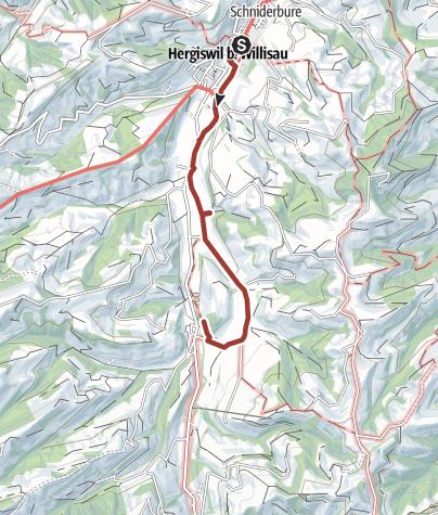 Map / Milch-Kräuter-Käseweg Hergiswil b. Willisau