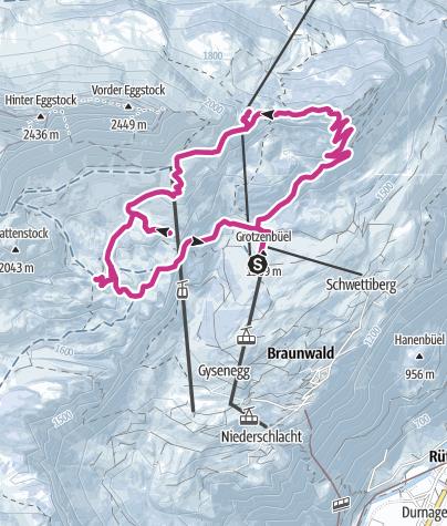Map / Panoramawanderung Winter