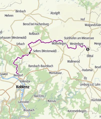 Westerwald Karte.Westerwald Rhein Radweg Radtour Outdooractive Com