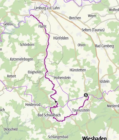 Karte / Aar-Radweg