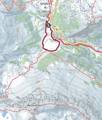 Karte / Rundweg Nideralpe - Chlusmatte