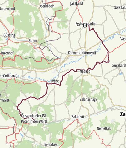 Térkép / Egyházasrádóc –Őriszentpéter (DDK-02.)