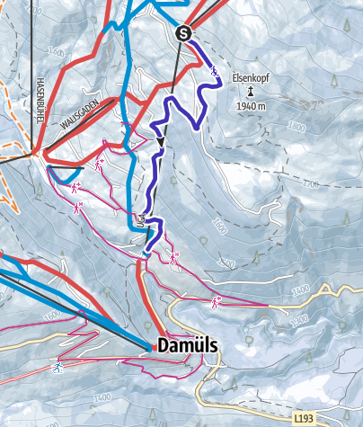 Map / Natur-Rodelbahn Uga | Damüls