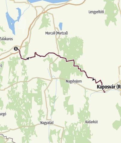Térkép / Zalakomár – Kaposmérő (DDK-07.)