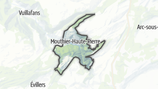 Mapa / Mouthier-Haute-Pierre