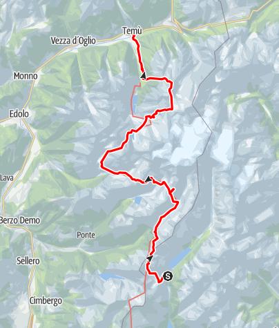 Karte / Adamello - Alpi Retiche meridionali: Tour der Partnerstädt Vicenza - Gernika - Pforzheim 2019