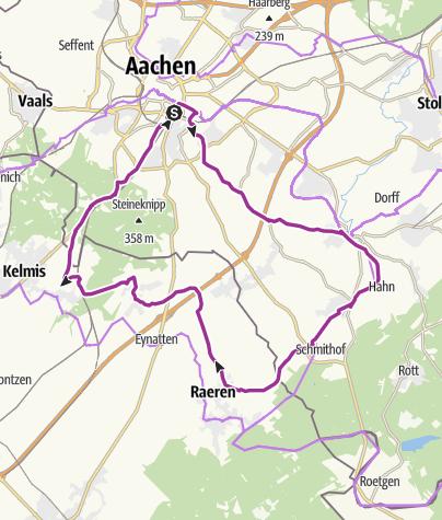 Karte / Von der Kaiserstadt zu den Töpfern nach Raeren