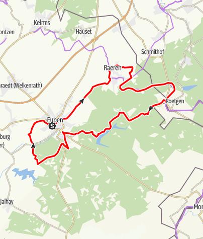 Carte / Le long de la Vesdre au coeur du « Bois des Ducs » (Hertogenwald)
